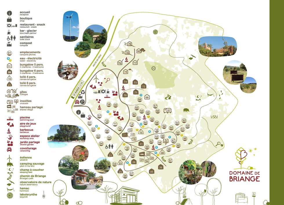 Plan du Domaine de Briange