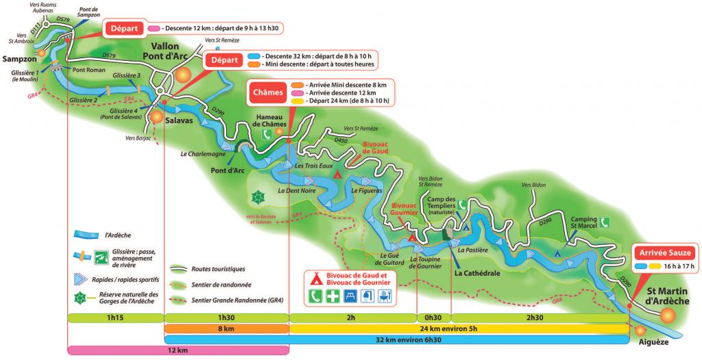 Descente de l'Ardèche en Canoë