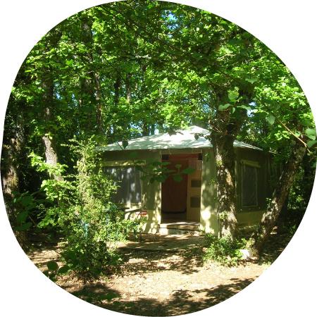 Toilés - des tentes aménagés en Ardèche