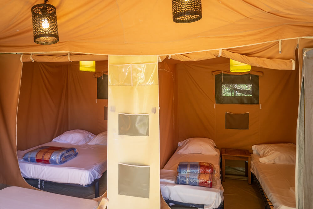 equipped tents