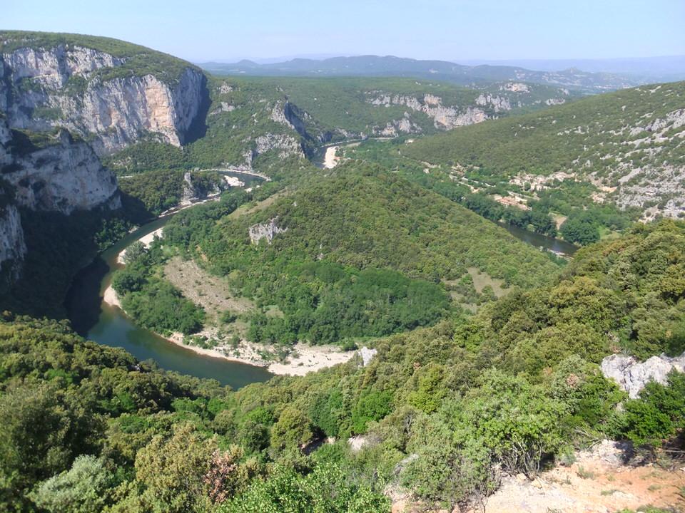 Ardeche gorges - heritage sites in Zrdèche