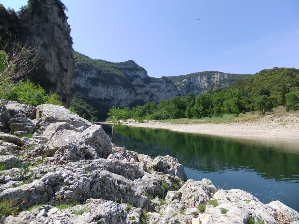 The ardèche gorges natural reserve