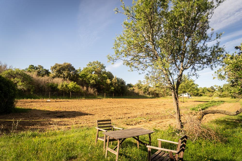 campsite with a garden