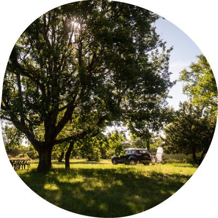 campsite in Ardèche