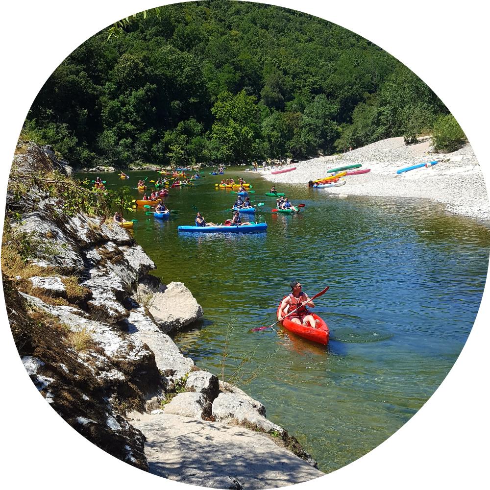 canoeing in Ardèche